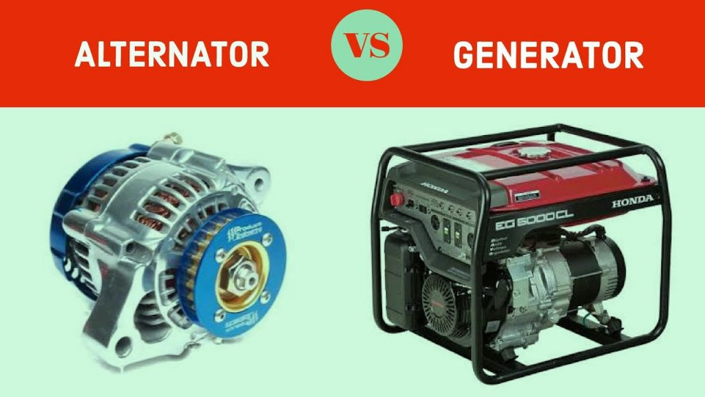 difference between generator and alternator